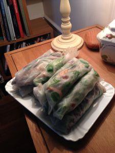 Rouleaux de Noël Fresh Rolls, Ethnic Recipes, Wraps, Greedy People, Kitchens