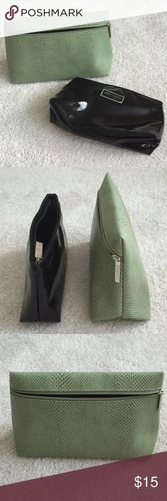 Jimmy Choo and Clinique Makeup Bags Lot of 2 makeup bags: one is Jimmy Choo and one is Clinique. The Clinique bag is brand new, and the Jimmy Choo one was used once for my nail polish. No marks or stains on either bag. Price you see reflects the price for BOTH bags. Please contact me before bundling this listing, as these reside at my parents house. Sephora Bags Cosmetic Bags & Cases