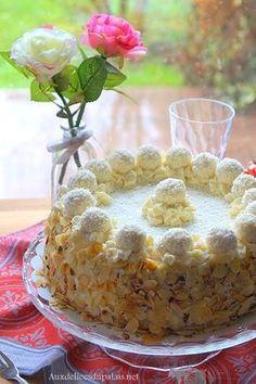 layer cake,raffaello,anniversaire,gâteau