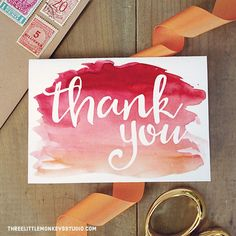 Create amazing DIY stationery to suit your budget and skills with this ultimate guide on how to make wedding invitations. Printable Thank You Notes, Free Thank You Cards, Printable Cards, Wedding Thank You Cards, Thank You Gifts, Free Printable, Party Printables, Diy Cards, Your Cards