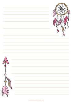 Notes & Letters Printables #1-4
