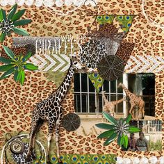 GIRAFFES: My mom and me with the giraffes at the zoo.  I made this page with Zoobahlou! The Bundle by Altered Amanda's Studio, available here: http://www.godigitalscrapbooking.com/shop/index.php?main_page=index&manufacturers_id=148 Also used: Art Journal Style Page Template Bundle by Altered Amanda's Studio at Go Digital Scrapbooking here: http://www.godigitalscrapbooking.com/shop/index.php?main_page=index&manufacturers_id=148