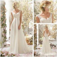 Neu Weiß Elfenbein Ballkleid Abendkleid Hochzeitskleid Gr 32 34 36 38 40 42 44