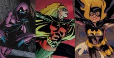 Stephanie Brown - Spoiler, then the only female Robin in the regular DCU, and then back from the dead as the fourth Batgirl - one versatile and resilient young woman, well worth reading about! Stephanie Brown, Batwoman, Nightwing, Batgirl, Dc Comics Women, Marvel Dc Comics, Tim Drake, Batman Eternal, Bob Kane