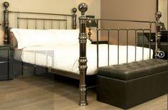 Metal Beds and Bed Frames 4 Poster Beds, Black Bedding, Metal Beds, Queen Size, Bed Frame, Furniture, Home Decor, Homemade Home Decor, Bed Base