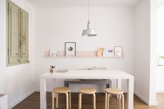 Mery Garriga is a Barcelona-based interior designer, and she lives in this minimally decorated home.