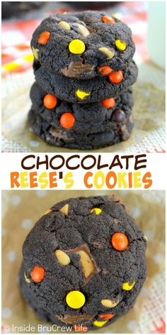 Fill these chocolate cookies with three kinds of Reese's and watch them disappear!