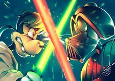 Goof Dumbwalker VS Derph Vader, por SaiyaGina