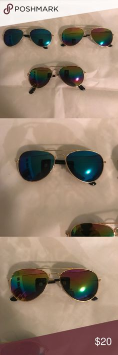 Kids sunglasses Gold metal frames , $8 for 1 or $20 for all 3 Accessories Sunglasses