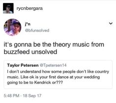 first dance to country???? lol