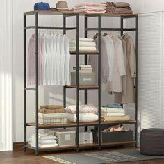 Closet Rod, Closet Storage, Storage Rack, Closet Organization, Ideas Armario, Closet Island, Large Wardrobes, Portable Closet, Garment Racks