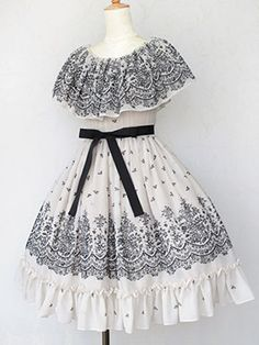 Flowery Flocky Elegant Dress OP (2014) by Victorian Maiden