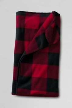 ThermaCheck® Printed Fleece Throw from Lands' End--love the leopard print or black snowflake print with monograms :)