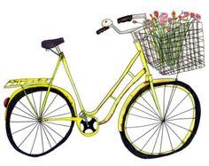 Groen Nederlands tulp fiets Amsterdam reizen door AnisaMakhoulArt