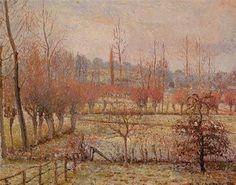 Snow Effect at Eragny - Camille Pissarro