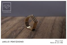 Tangram Jewelry pentagon ring Tangram, Rings For Men, Jewelry, Gold Plating, Silver, Men Rings, Jewlery, Jewels, Jewerly