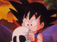 That adorable face could never be scary #Goku Dragon Ball #humor