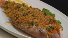 Baked snapper with Spanish flavours