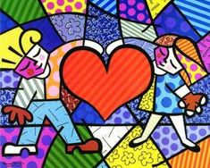 Romero Britto lesson - could be good for elipses and all kinds of color theory