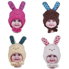 $2.78 Baby Toddler Stuffed Plush Rabbit Design Ear Cover Earflap