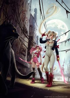 Sailor Moon and Chibi Moon - bad ass!!!