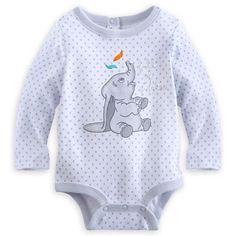 Dumbo Long Sleeve Disney Cuddly Bodysuit for Baby