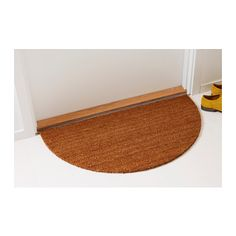 TRAMPA Door mat, half-moon, natural