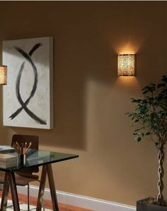 Murray Feiss WB1564LAB Joplin Collection 1-Light Wall Sconce, Light Antique Bronze Finish with Beige Shade - Amazon.com