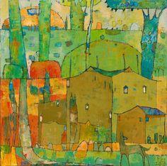"Jane Filer Rozinazte del Sol 32"" x 32"" acrylic on canvas"