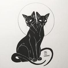 Art of Krista Tyni Cat tattoo Tattoo Sketches, Tattoo Drawings, Art Sketches, Zentangle Drawings, Kunst Tattoos, Body Art Tattoos, Small Tattoos, Sleeve Tattoos, Art Du Croquis