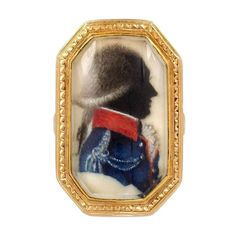 1stdibs.com | An Antique Gold Portrait Ring