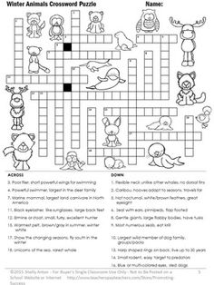 Secular Christmas Crossword Puzzle NO PREP Christmas