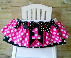 High Chair Tutu Can Do Custom Colors Fabric by GigglesandWiggles1