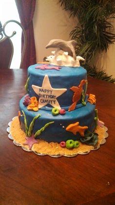 Dolphin birthday cake!