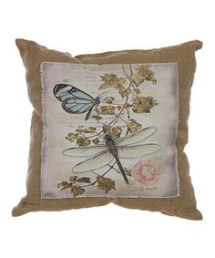 Another great find on #zulily! Aves Butterfly Burlap Throw Pillow #zulilyfinds