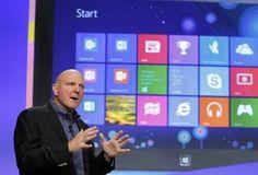 Microsoft CEO Steve Ballmer Windows 8 in New York