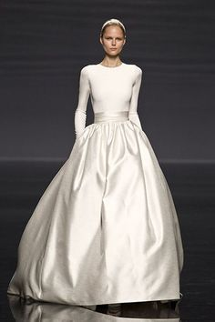 brilliantly & simply elegant all white ball gown
