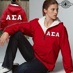 Alpha Sigma Alpha Pullover Jacket - Charles River 9905