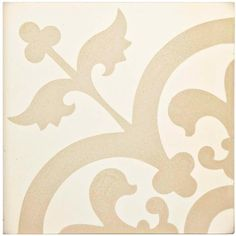 Merola Tile Cemento Empress Beach 7-7/8 in. x 7-7/8 in. Cement Handmade Floor and Wall Tile, Sand And Cream/Low Sheen