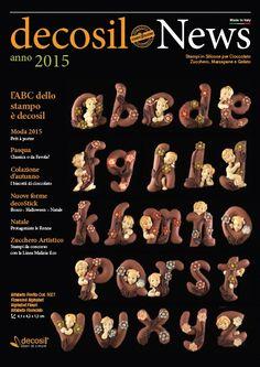 decosil News 2015 - L'ABC dello stampo è decosil - la raccolta delle nuove proposte per il 2015 degli stampi professionali 3D in silicone alimentare per cioccolato, zucchero e gelato.