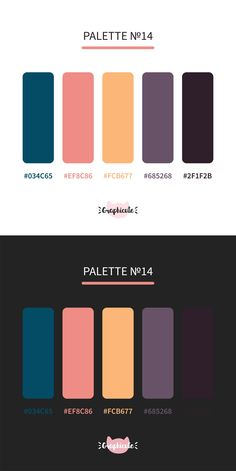 Color palette with hex codes. Pretty combinations of colors .⠀ - Color palette with hex codes. Pretty combinations of colors . Web Design, Design Jobs, Layout Design, Design Blog, Graphic Design, Hex Color Palette, Website Color Palette, Colour Schemes, Color Combos