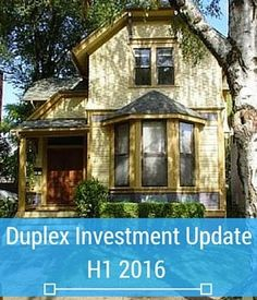 I haven't wrote an update on our duplex for a long time because the cash flow wasn't very good. We are doing better this year, though.