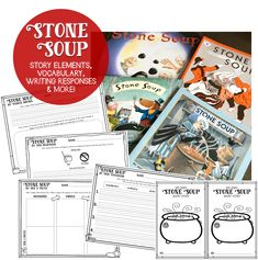 Reading responses, writing prompts, crafts and much more for a Stone Soup mini unit!