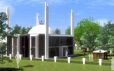 Ahmadiyya Green Mosque in Holland