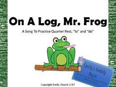 On A Log, Mr. Frog Teacher Pack