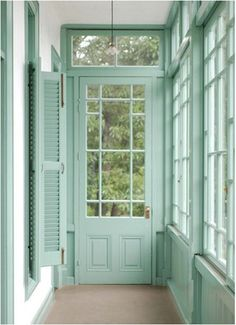 would love this style house! mint doors windows shutters, i would love this style house! mint doors windows shutters, i would love this style house! Verde Vintage, Interior Exterior, Interior Design, Interior Ideas, Interior Shutters, Exterior Trim, Farmhouse Interior, Interior Paint, Interior Decorating