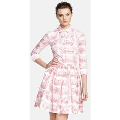 RED Valentino Butterfly Print Cotton Blouse ($158) ❤ liked on Polyvore featuring tops, blouses, ariana grande, dresses, button front tops, butterfly print blouse, butterfly print top, cotton blouse and red valentino