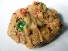 Fruitcake Cookies, soft moist and packed with fruits & nuts - Makes 2 Dozen larger Cookies or 3 Dozen smaller Cookies