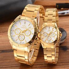 Gold Watch Men Women Watches Top Brand Luxury Famous Wristwatch Male Clock Golden Quartz Wrist Watch Relogio Masculino Designer Watches Pocket Watches From Angelawei, $26.13  Dhgate.Com