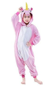 3df4e0e83 Super cute unicorn girls onesie in pink! Animal Costumes For Kids, Onesie  Pajamas,